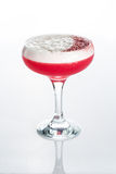 Pink cocktail decorated with marshmallow isolated Stock Image