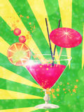 Pink cocktail with decorations Stock Image