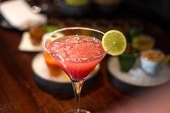 Pink Cocktail Drink royalty free stock photo