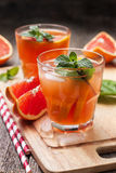 Pink cocktail with fresh grapefruit Stock Image