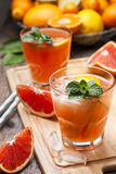 Pink cocktail with fresh grapefruit Royalty Free Stock Image