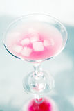 Pink cocktail with ice Royalty Free Stock Images