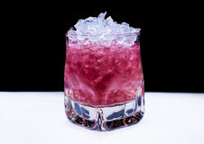 Pink Cocktail with ice Royalty Free Stock Image