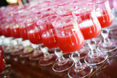 Pink Coctail Drinks Royalty Free Stock Photos