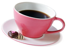 Pink coffee cup Royalty Free Stock Images