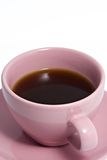 Pink Coffee Cup Full of Coffee Royalty Free Stock Photo