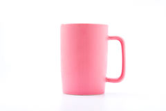 Pink coffee cup. Isolated with white background Stock Photo