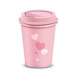 Pink coffee cup Stock Photo