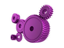 Pink cogs Royalty Free Stock Image