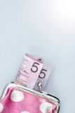 Pink Coin Purse Stock Photo