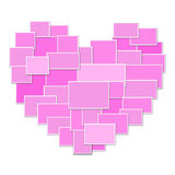 Pink collage heart Stock Photo