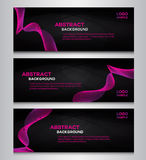 Pink Collection banner backgrounds Stock Photos