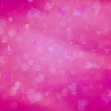 Pink color blurred heart bokeh Royalty Free Stock Images