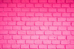 Pink color of brick wall Royalty Free Stock Images