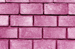 Pink color brick wall pattern. Royalty Free Stock Images