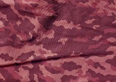 Pink color camouflage cloth pattern. Royalty Free Stock Image
