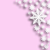 Pink color Christmas snowflake background Royalty Free Stock Image