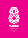Pink color creative background design for women's day. Stock Images