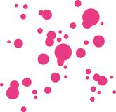 Pink color drops. Brush vector vector illustration
