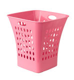Pink color empty plastic basket Stock Photo