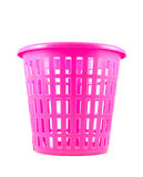 Pink color empty plastic basket Stock Images
