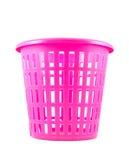 Pink color empty plastic basket Stock Images