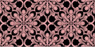 Pink color floral pattern on black Royalty Free Stock Photos