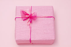 Pink color gift box Royalty Free Stock Photo
