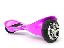 Pink color hoverboard on white Stock Photography