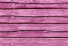 Pink color log house wall. Royalty Free Stock Photo