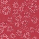 Pink Color ornament of mandalas on a light red background. Template for oriental wrapping paper, shawls, textiles. Fabric, ethnic textile Royalty Free Stock Photo
