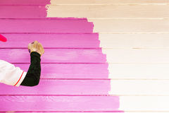 Pink color painting wall Stock Photos