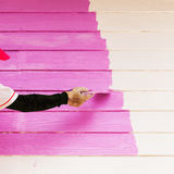 Pink color painting wall Royalty Free Stock Photos