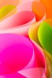 Pink color paper variety arc wave form. Color paper background in variety arc wave form stock photo