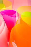 Pink color paper variety arc wave form. Multi exposure Royalty Free Stock Photos