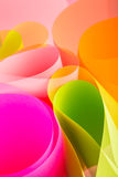 Pink color paper variety arc wave form. Royalty Free Stock Image