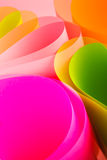 Pink color paper variety arc wave form. Stock Image