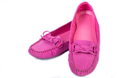Pink  color sandal shoes Stock Image