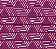 Pink color stripes seamless pattern. Royalty Free Stock Images