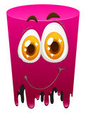 Pink color tube with happy face Royalty Free Stock Image