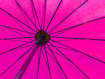 Pink color umbrella Royalty Free Stock Image