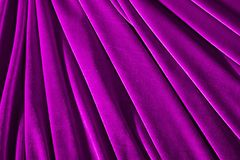 Pink color velvet textile for background or texture Stock Photos