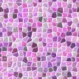Pink colored abstract marble irregular plastic stony mosaic pattern texture seamless background Stock Photography