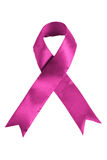 Pink colored Breast cancer awareness ribbon Stock Photography