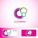 Pink colored circles logo Stock Photography