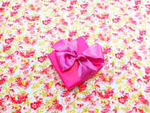 Pink colored gift boxes with decorative bows Stock Photography