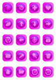 Pink colored glossy web buttons. Royalty Free Stock Photography