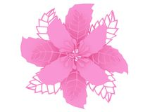 Pink colored material 3D illustration flower rendering royalty free illustration