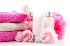 Pink colored spa accessory Stock Photography
