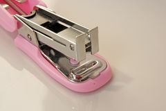 Pink stapler tool Royalty Free Stock Photography